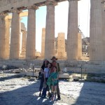 Fredrick Family in front of Parthenon